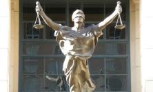 Photograph of Justitia statue